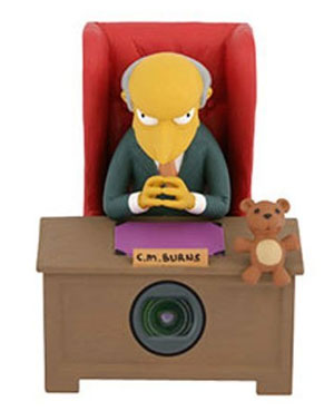 mr burns simpsons webcam