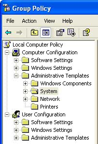 group policy window