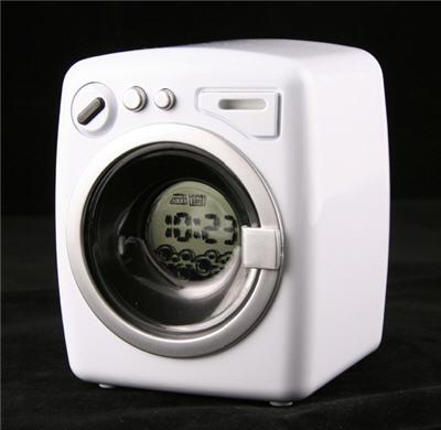 maquina lavadora usb, reloj despertador
