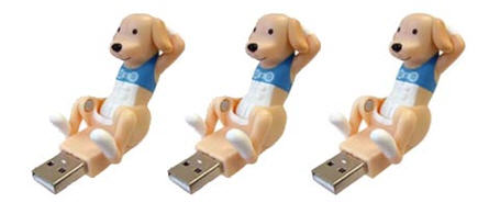 usb crunching dog
