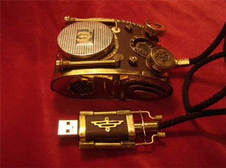steampunk usb mouse