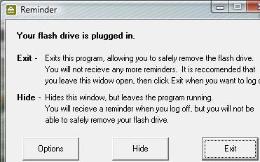 flash drive reminder