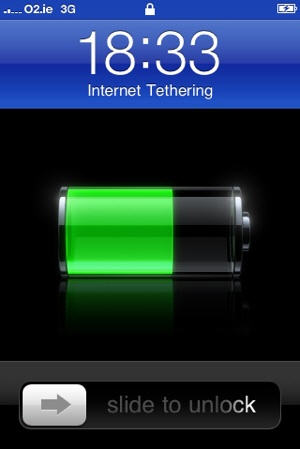 tethered iphone usb