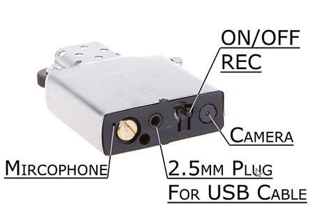 spy camera cigarette lighter