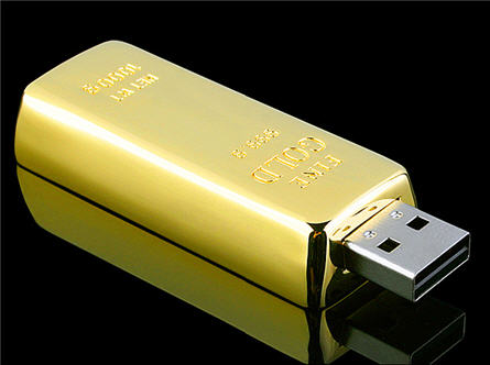 gold USB flash drive