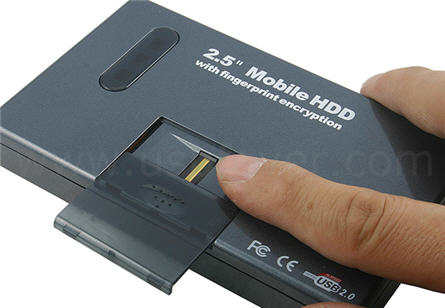 USB hard drive biometrics