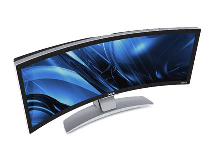 NEC curved monitor