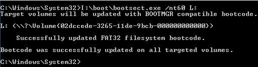 nt60 bootable sector USb