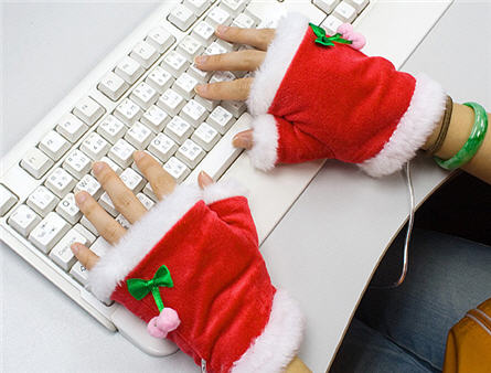 USB heating gloves, Christams theme