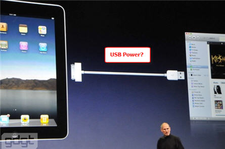 iPad USB power