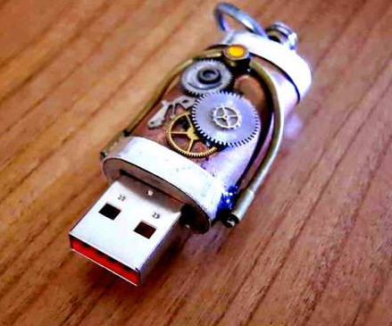USB steampunk flash drive