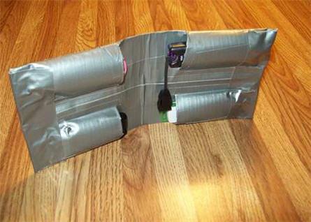 usb duct tape holder wallet