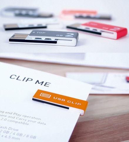 USB memory clip