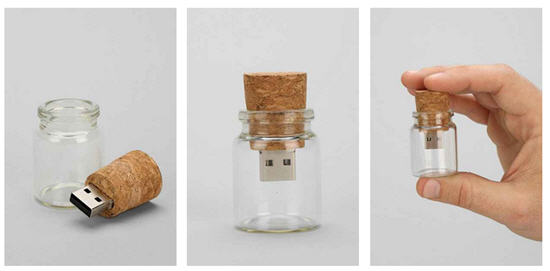 Message in a bottle, USB drive