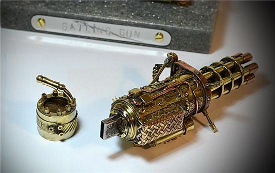 steampunk usb, Gatling gun