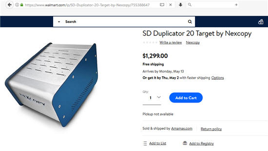 20 target SD duplicator from Wal-Mart.  A PC Based system for data loading to SD cards