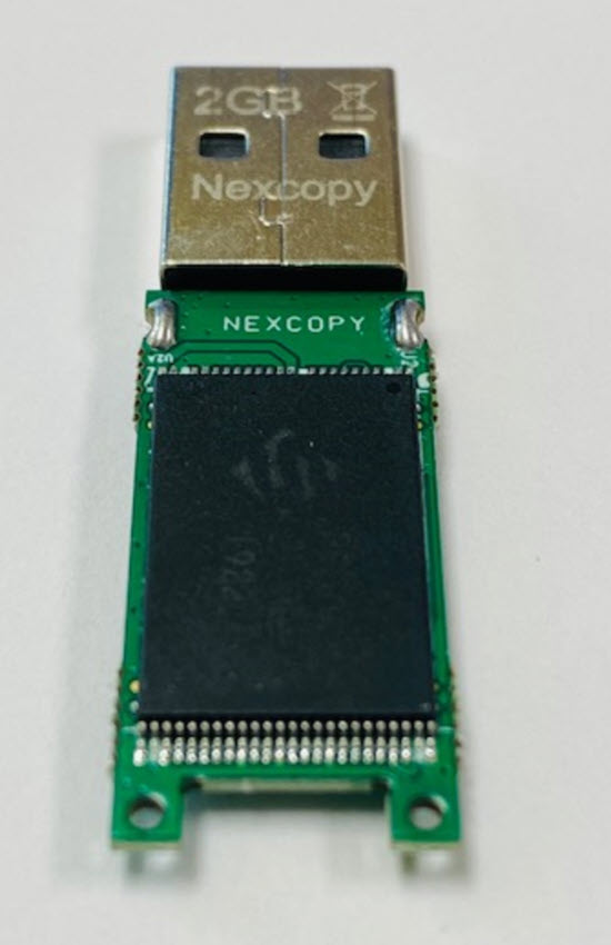 USB flash drive PCB with NAND memory
