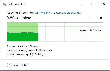 Windows copy speed